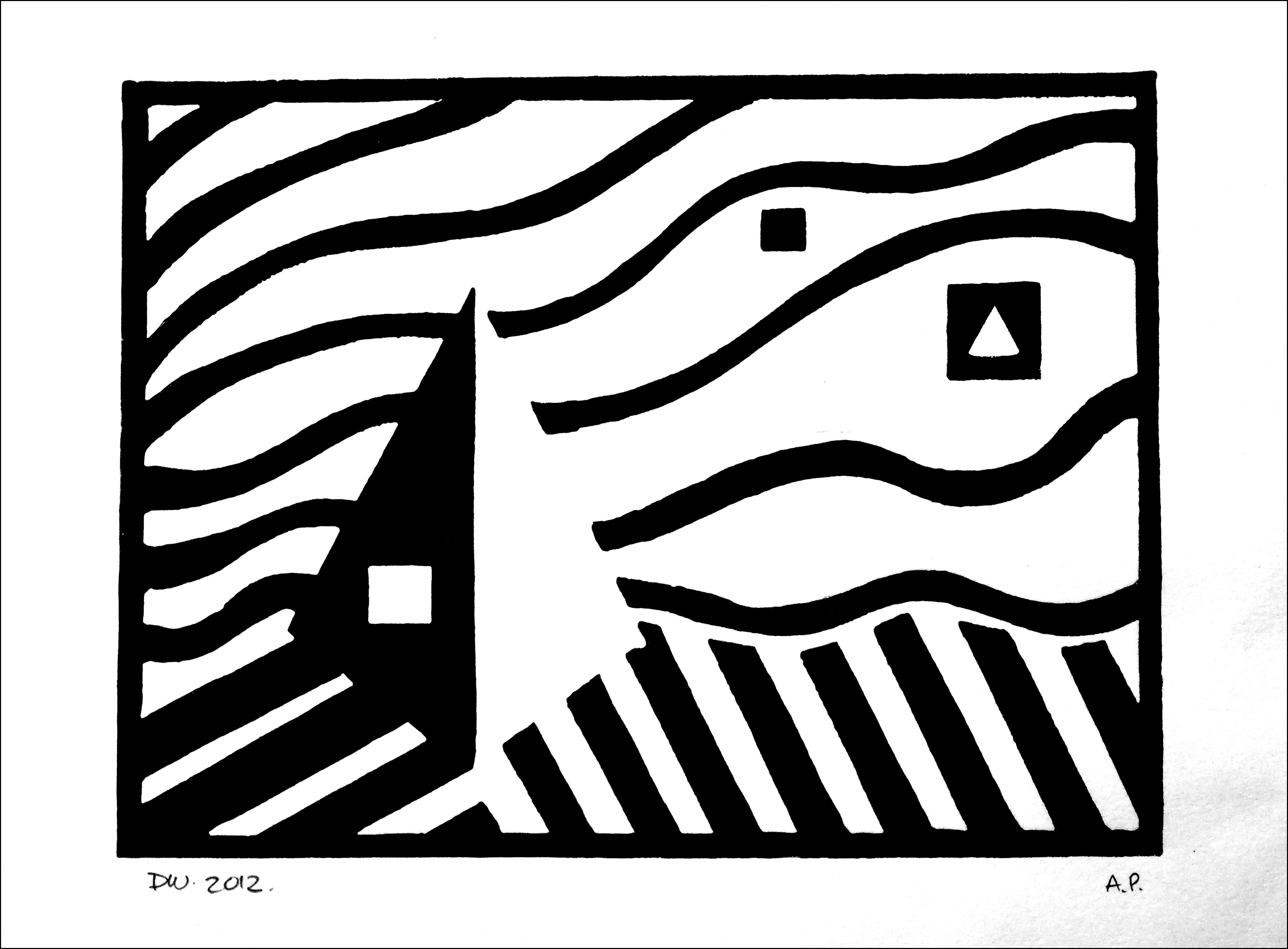 Time For Another Lino Print Dave Whatt